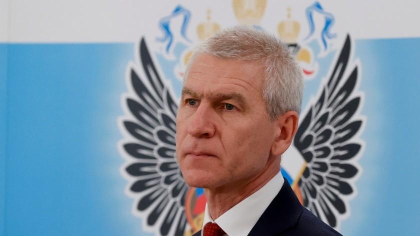 En imagen tomada del viernes 31 de enero de 2020, el ministro ruso del Deporte Oleg Matytsin habla en conferencia de prensa en Moscú, Rusia.(AP)