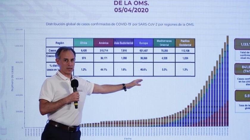 """El subsecretario López-Gatell sostiene que en una epidemia """"no es factible"""" dar seguimiento a todos los enfermos.(EFE)"""