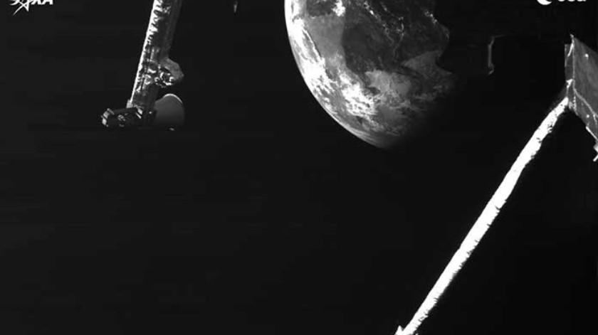 La atracción gravitacional de la Tierra frenó a la BepiColumbo y enderezó su ruta hacia el Sol.