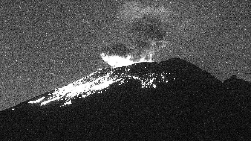 La Alerta Volcánica se activó en Amarillo Fase 2.(Gobierno de México)