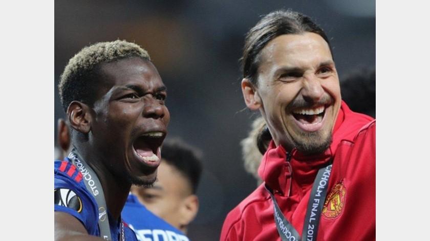 Zlatan y Pogba se enfrentaron en reto vía redes sociales(Twitter)