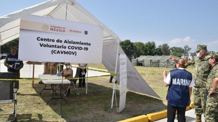 Centros de Aislamiento Voluntario Móvil (Cavmov).(Agencia Reforma)