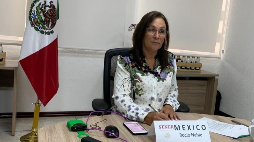 Anuncia Rocío Nahle acuerdo con OPEP en recorte de barriles diarios(Twitter/ @rocionahle)