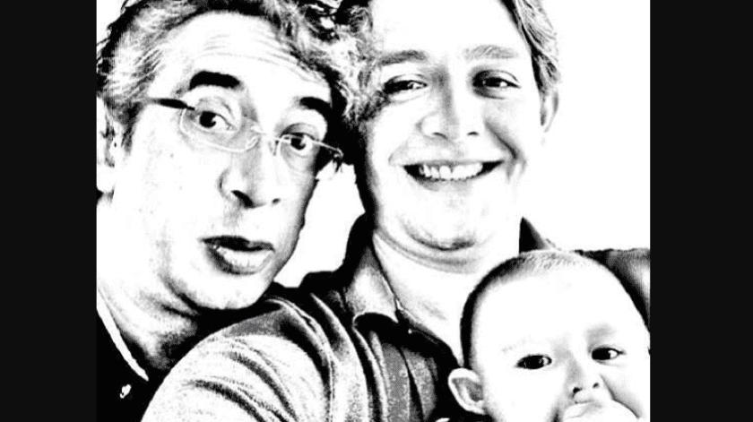 Gus en compañía de su hijo, Javier, y su nieto.(@GRA100)