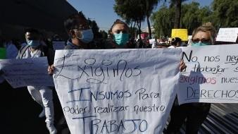 Personal médico denuncia contagios por Covid-19 y protesta por falta de protección