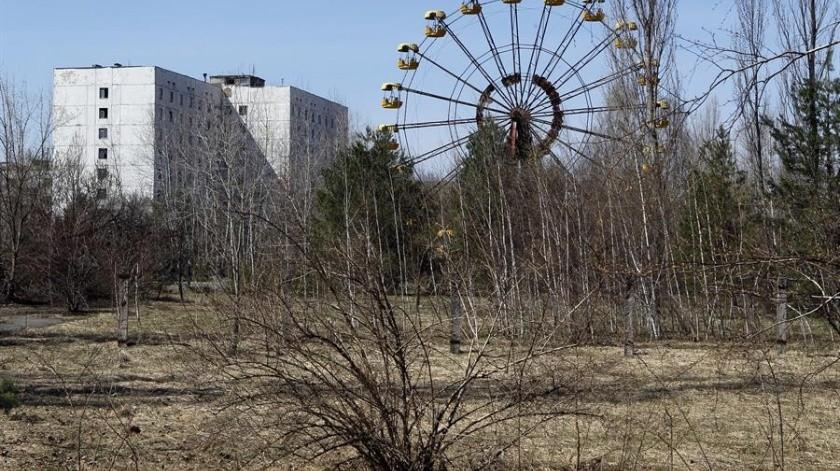 Incendio alcanza Prípiat y se aproxima a depósitos con residuos nucleares de Chernóbil(EFE)