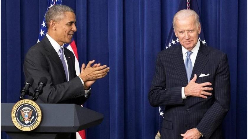 El expresidente de EUBarack Obama expresó este martes su apoyo a la candidatura a la Casa Blanca del que fuera su vicepresidente Joe Biden(EFE)