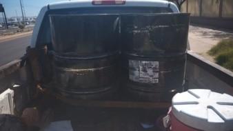 Detienen a hombre con 400 litros de hidrocarburo