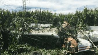 Se desploma avioneta fumigadora en el Valle del Yaqui; piloto resulta lesionado