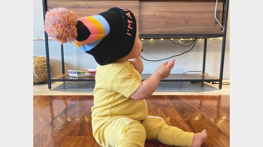 En un video compartido por Huerta, la bebé comienza a bailar al ritmo de una canción de Juan Luis Guerra.(@joynadamas)