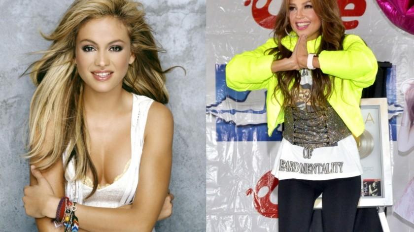 Paulina manda mensaje cariñoso a Thalía.(Agencia México)