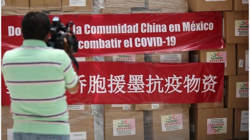 Vienen a México 250 mil caretas protectoras en tercer vuelo desde China(EFE)