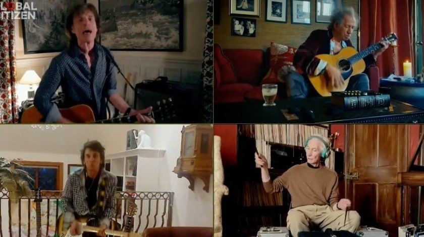 """La """"bateria invisible"""" de The Rolling Stones(Captura de pantalla)"""