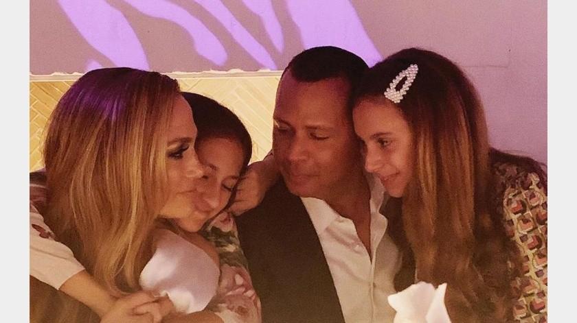 Jennifer López celebró el cumpleaños número 12 de Ella, hija de su prometido Alex Rodríguez.(Tomada de la red)