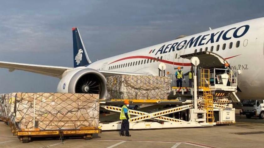 Quinto vuelo llegará con insumos médicos de China a CDMX(@ConsulMexSha)
