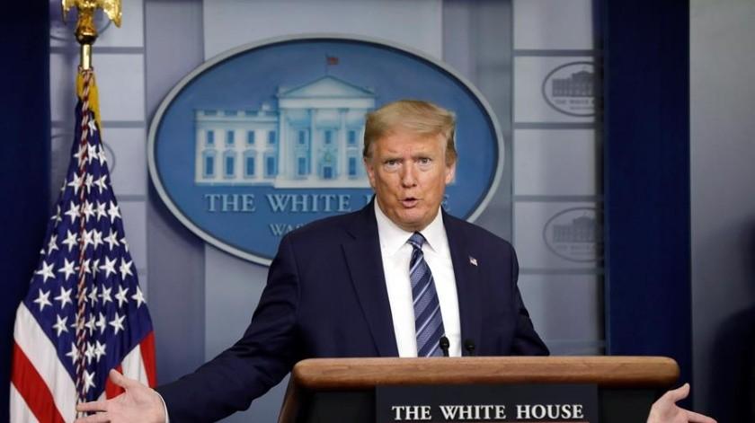 """Trump consideró que la noticia era """"falsa"""" y arremetió contra la cadena CNN, que fue el único medio estadounidense que publicó la información sobre Kim.(EFE)"""