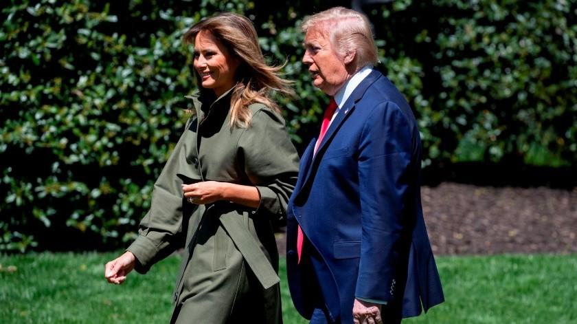 Melania Trump y Donald Trump(EFE, EPA POOL)