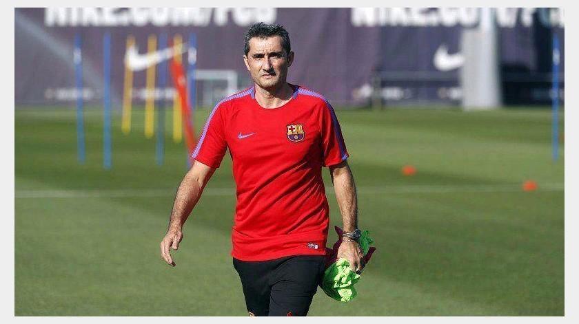 """""""Verle jugar de lejos impresiona, hacerlo de cerca, aún más"""": Valverde sobre Messi(Instagram @ernesto_valverde)"""
