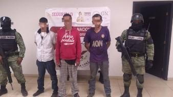 GN detiene a tres hombres con droga en Nogales