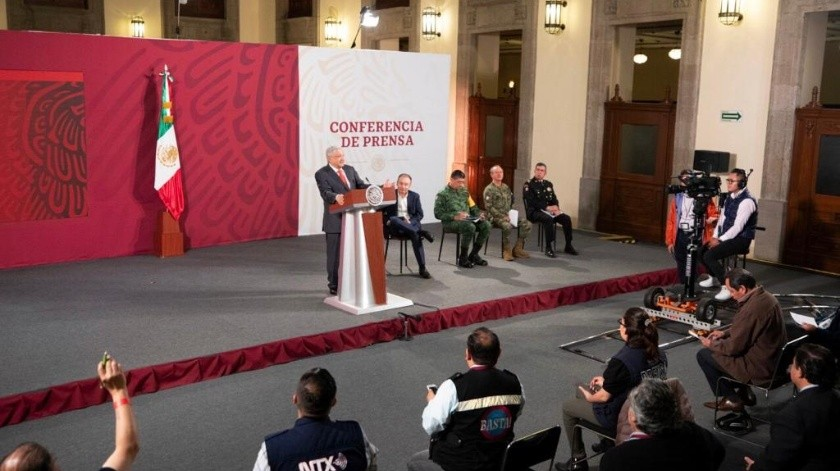 Andrés Manuel López Obrador dando su conferencia matutina el día viernes.(Gobierno de México)