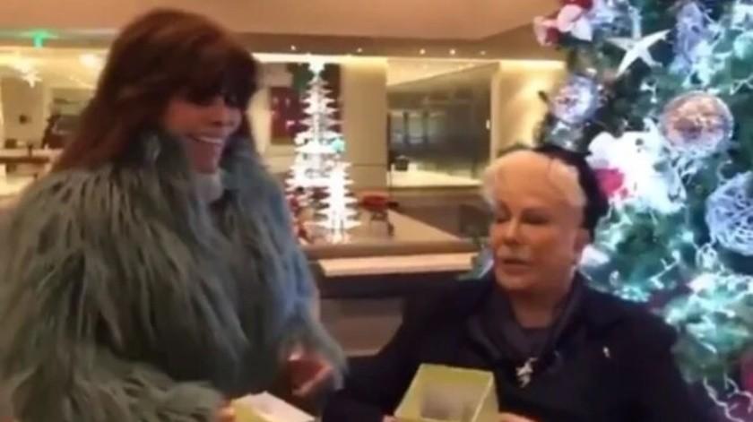 Yolanda Andrade comparte emotivo video de Verónica Castro y su madre(Captura)