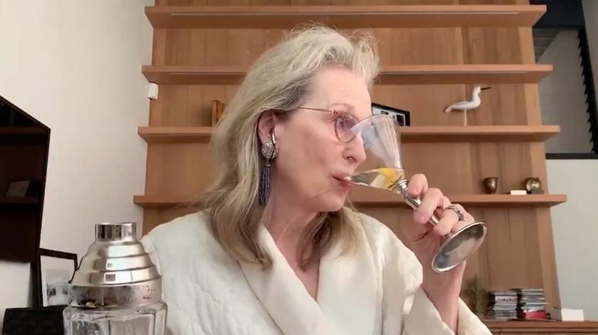 Meryl Streep, propuso un brindis a través de sus redes sociales.(Internet)