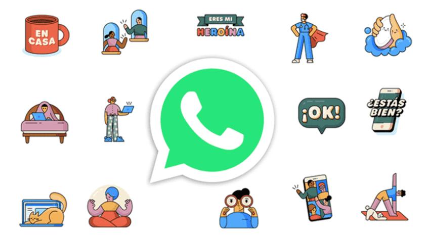 """WhatsApp y OMS lanzan stickers """"Juntos en Casa""""(Tomada de la red)"""