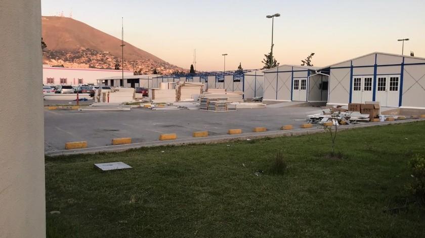 Se tiene contemplado que el hospital ligero empiece a funcionar dentro de 15 días.(Daniel Antuna)