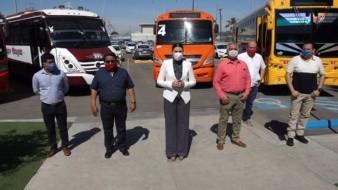 Anuncia alcaldesa Transporte gratuito a personal de Salud