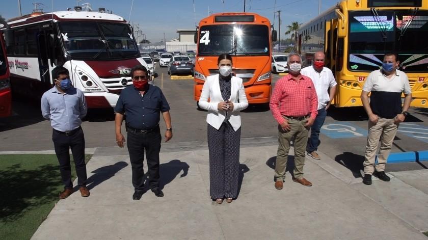 Anuncia alcaldesa Transporte gratuito a personal de Salud(Cortesía)