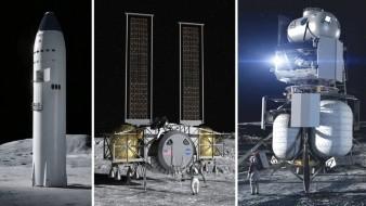 NASA selecciona tres naves para aterrizar en la Luna, entre ellas la Starship
