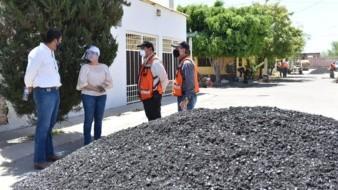 Supervisa alcaldesa rehabilitación de calles