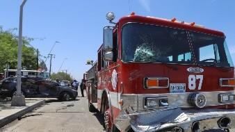 Chocan bomberos en González Ortega