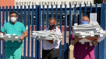Cimarrones donan 20 cámaras de intubación al Hospital General de Mexicali