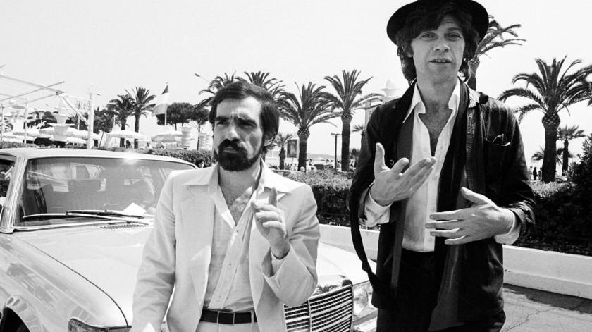 """El director Martin Scorsese, a la izquierda, y el productor Robbie Robertson en Cannes, Francia, donde se encontraban para presentar """"Last Waltz"""" en el Festival de Cine de Cannes.(AP)"""