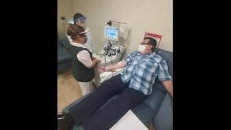 Delegado del IMSS en Coahuila dona plasma tras recuperarse de Covid-19