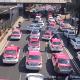 Taxistas marchan al Zócalo; piden apoyo ante coronavirus