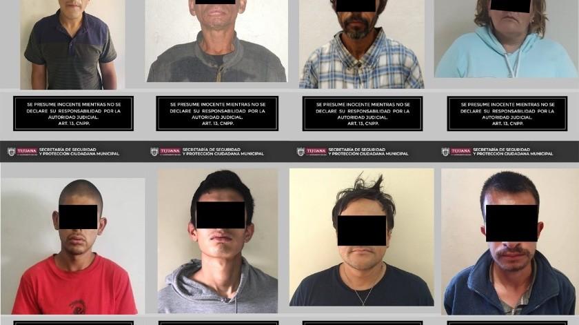 Detienen a ocho por posesión de droga en Tijuana(Cortesía)