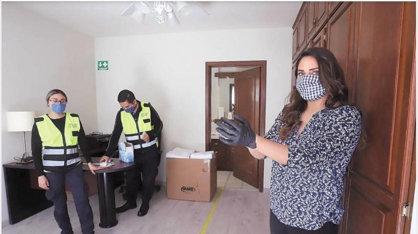 El albergue 'Héroes con Bata', coordinado por Laura Ciscomani, busca apoyar a personal de salud.(Teodoro Borbón)