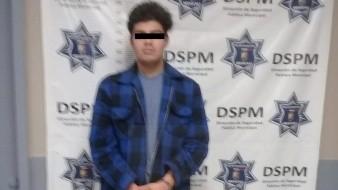 Joven es arrestado con bolsa de mariguana