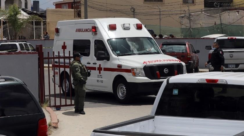 Los primeros respondientes fueron policías municipales y después la escena quedó a carga de la Fiscalía Estatal.(Sergio Ortiz)