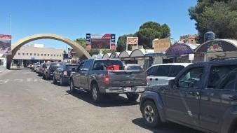 En cruces de Sonora a EU tiempos de espera de dos horas y media a cinco horas