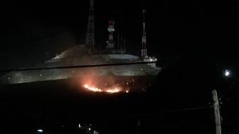 Se registra incendio en las inmediaciones del Cerro de la Campana