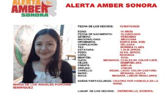 Activan Alerta Amber por la desaparición de María de los Ángeles en Hermosillo