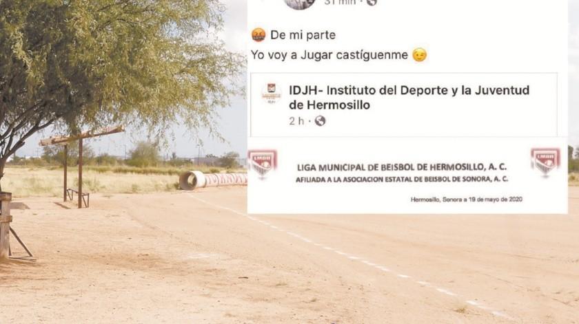 Jugador profesional de beisbol defiende juegos informales pese a confinamiento(Teodoro Borbón)