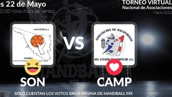 Selección de Sonora de Handball llama a votar en Facebook para ganar en octavos de final