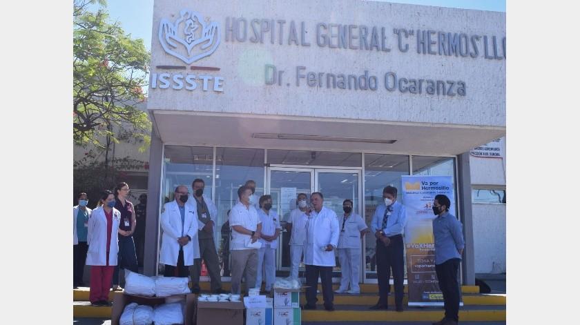 Hermosillo ¿Cómo vamos? dona insumos médicos a Hospital del Issste en Hermosillo(Especial)