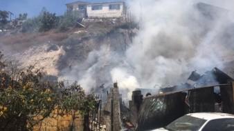 El incendio ocurrió tras un apagón.