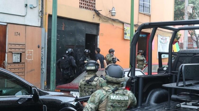 Luego de dos horas, los elementos de seguridad abandonaron el lugar, sin realizar alguna otra detención.(Agencia Reforma)