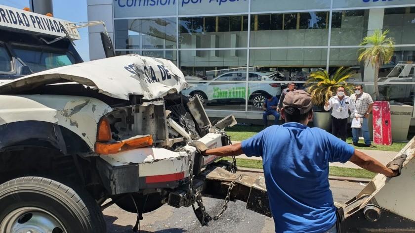 Choque deja una persona lesionada en la colonia Centro(Julián Ortega)